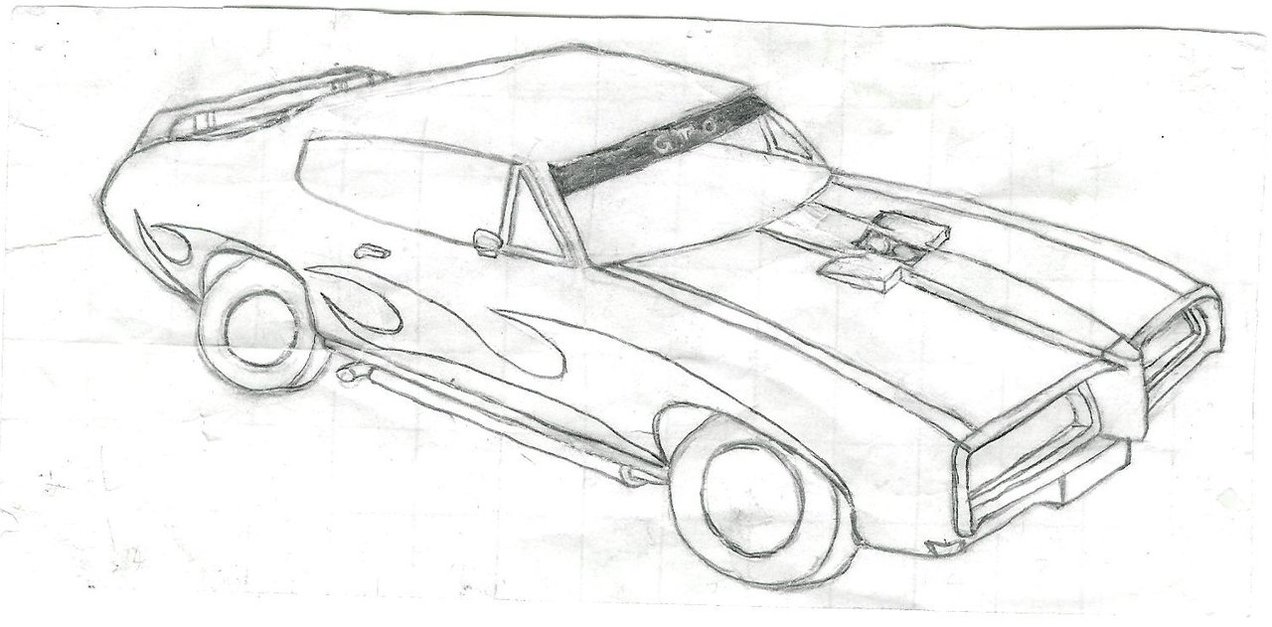 muscle car drawing by Zomby0Wolf on DeviantArt