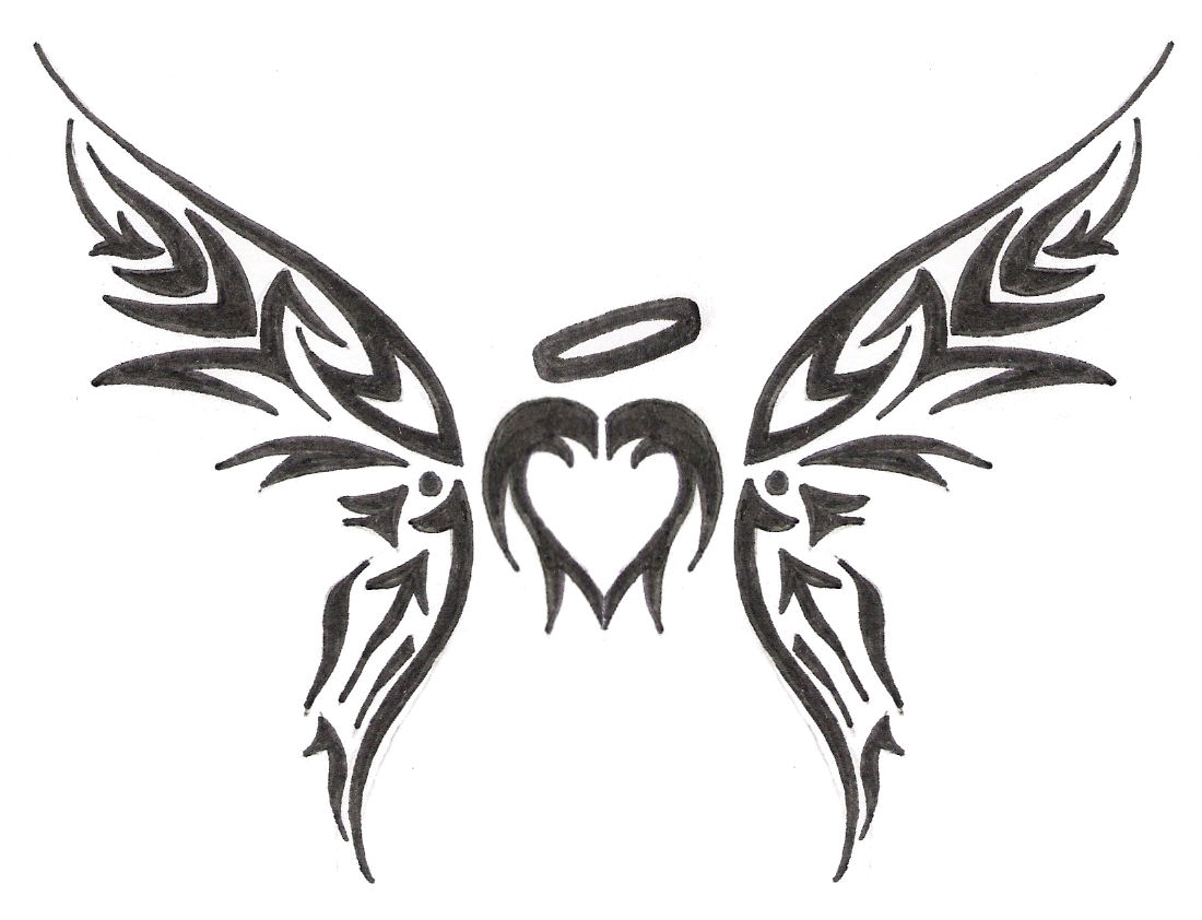 Drawings Of Tribal Hearts Tribal Heart - Clipart...