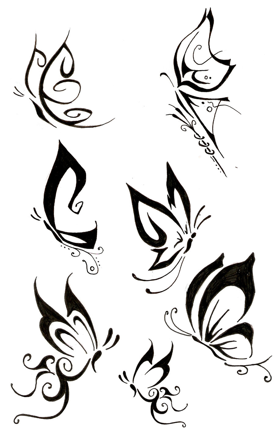 More Tribal Butterfly Tattoo Designs Tattooshunt Com Cliparts Co