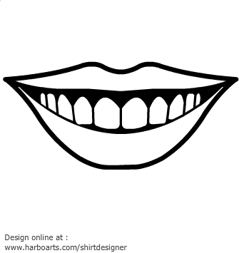 Mouth smile clipart black and white clipartsco for Smile templates