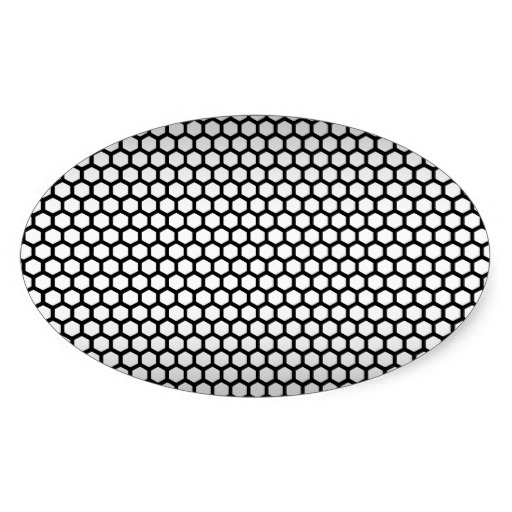 Cool Metallic Black and Silver Design.png Oval Sticker | Zazzle