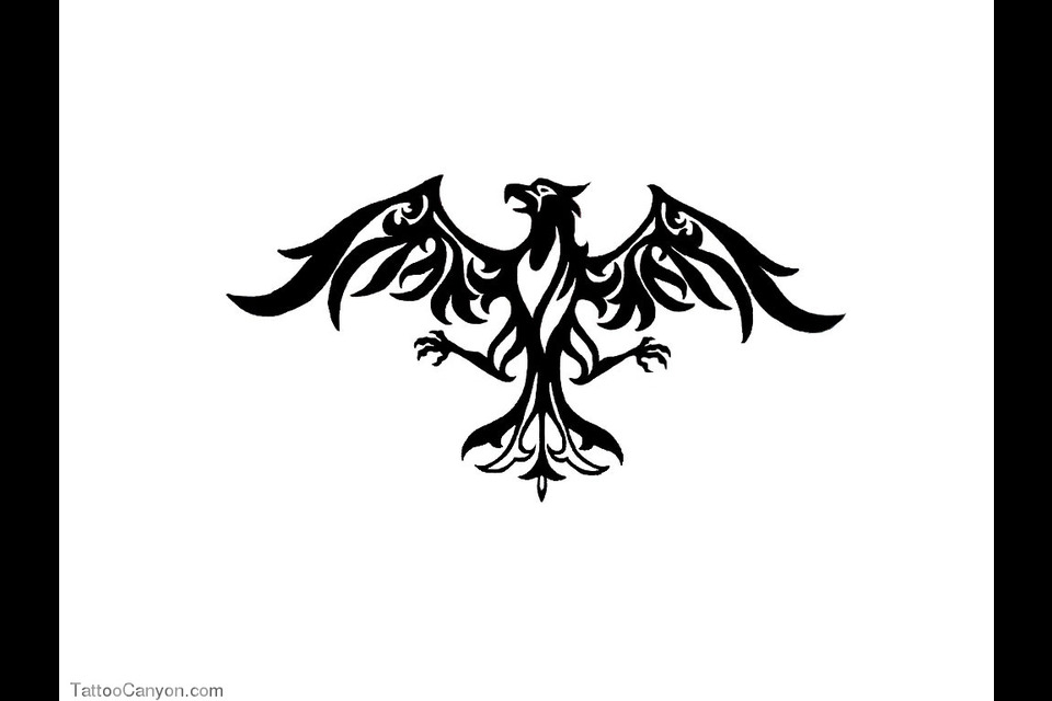 Pin Eagle With Wings Spread Tattoo Tribal Tattoos On Pinterest ...