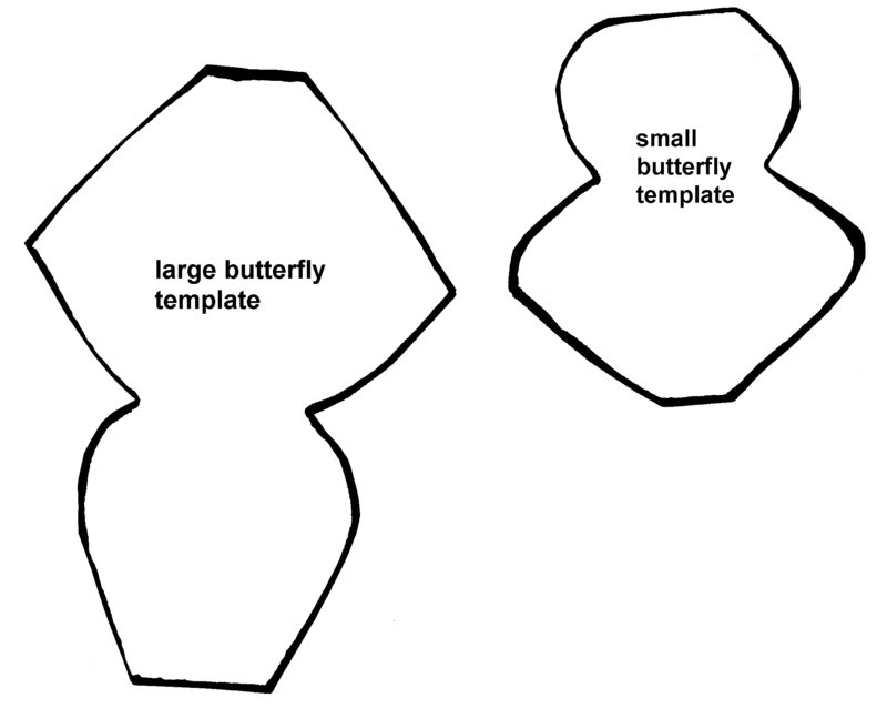 Butterfly outline template clipartsco for Paper butterfly templates