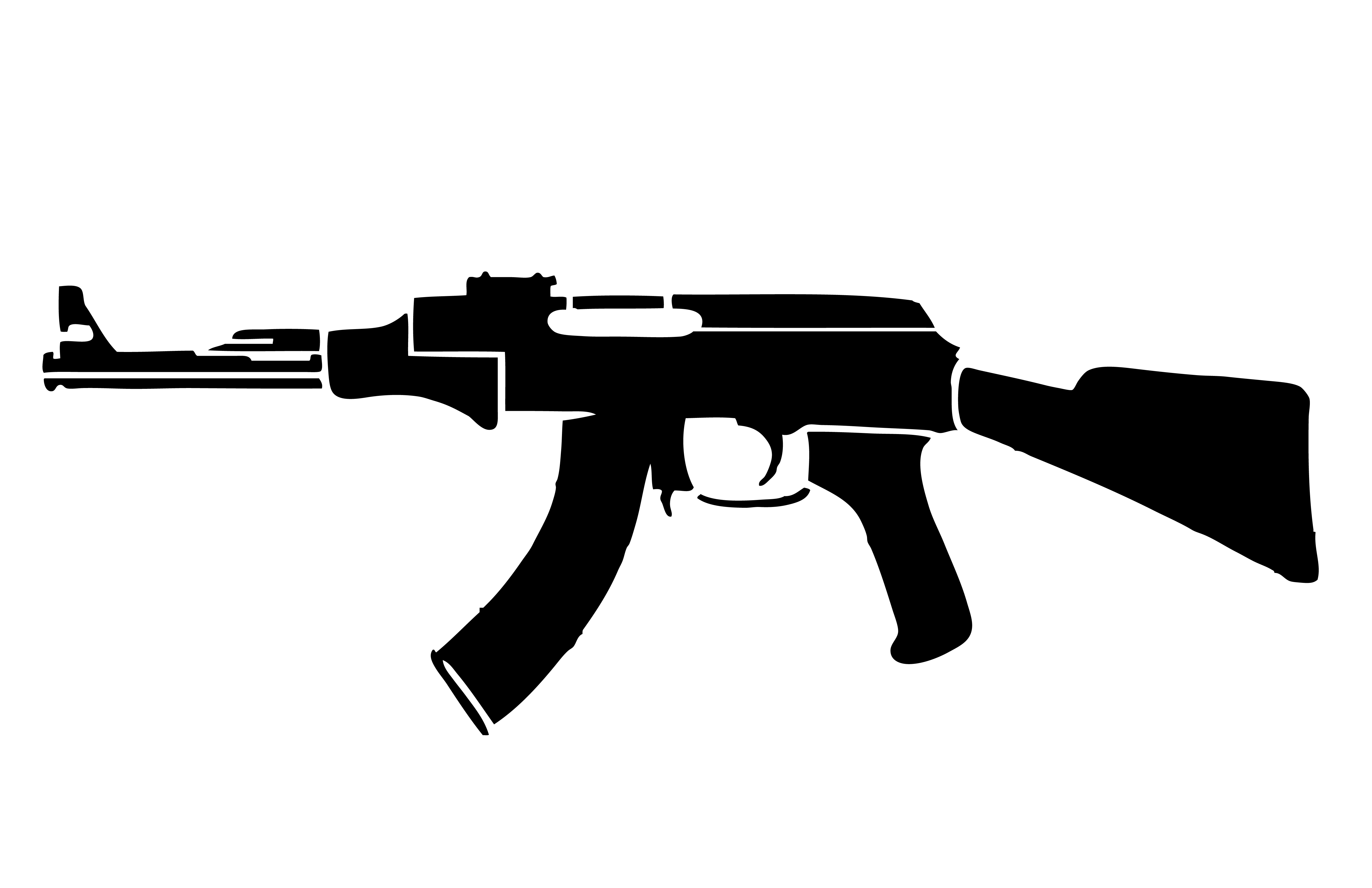 Ak 47 stencil for Ak 47 coloring pages