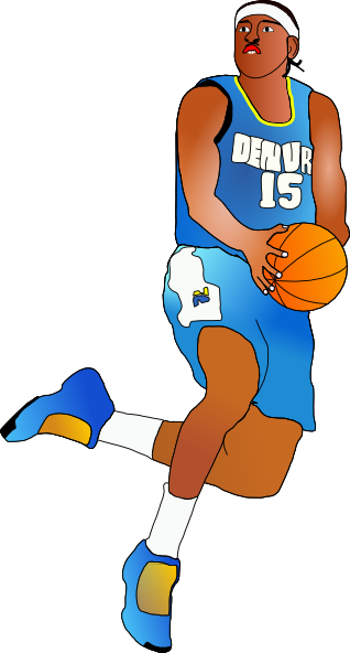 Basketball Player clip art - vector clip art online, royalty free ...
