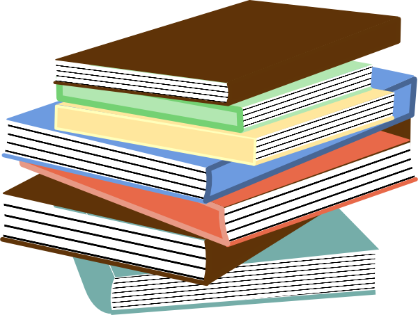 Stack Of Books clip art - vector clip art online, royalty free ...