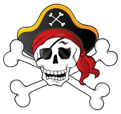 pirate skull clipart rh worldartsme com clipart skull and crossbones pirate pirate skull and bones clip art