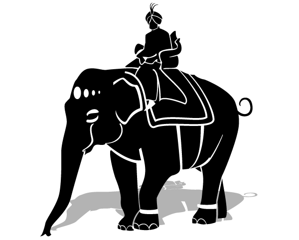 Maharaja Riding an Elephant Free Vector Clipart Illustration Free ...