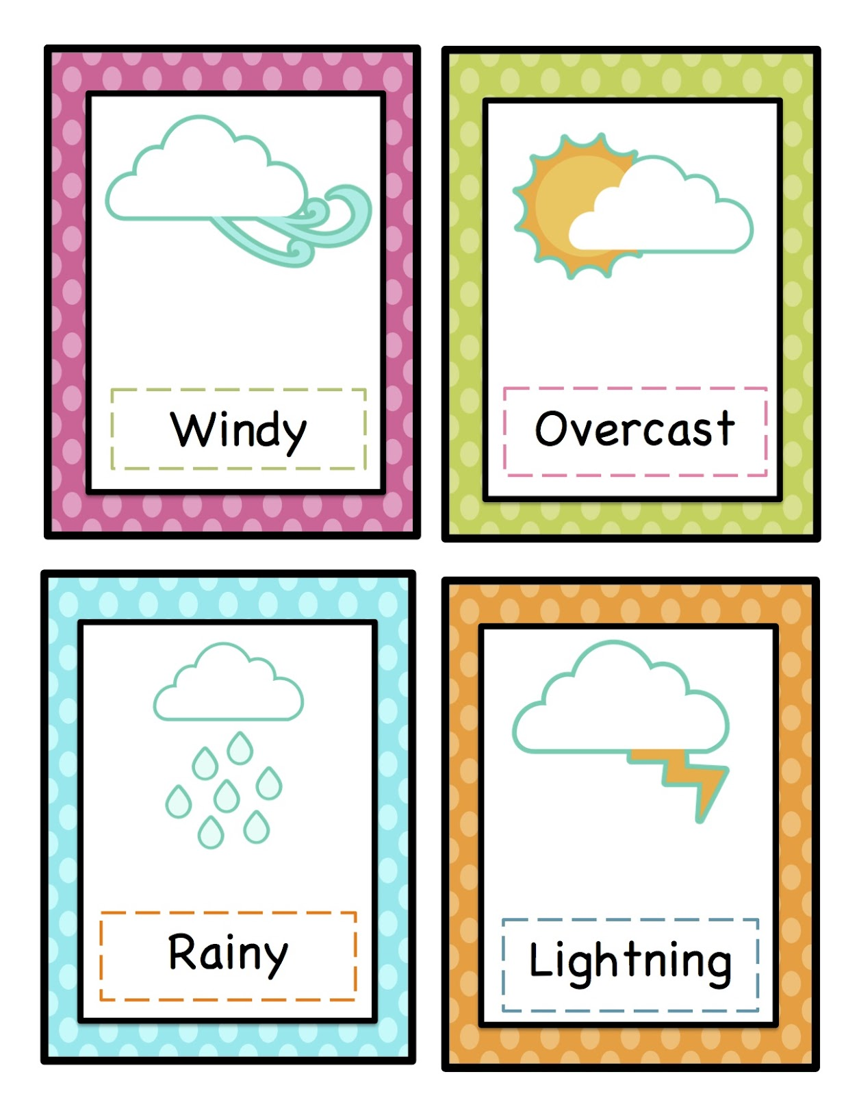 Weather Pictures For Kindergarten Cliparts