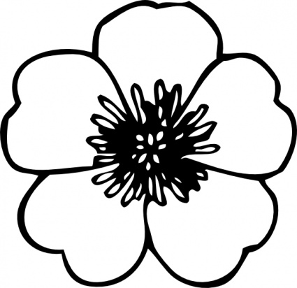 Cross And Flowers Clipart Black And White Clipart Panda