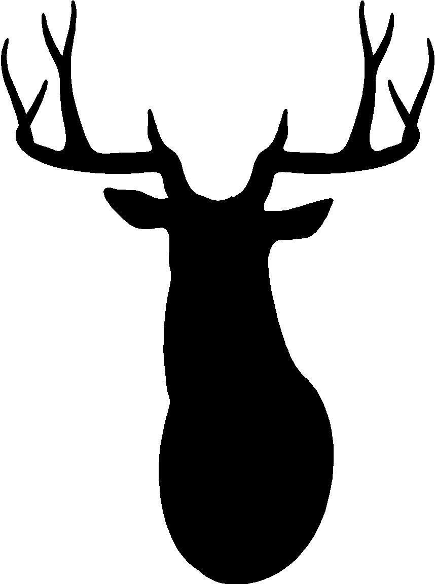 free deer head silhouette clip art - photo #12