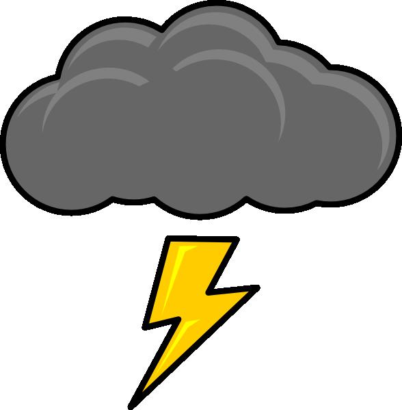 Cloud With Lightning Bolt clip art - vector clip art online ...