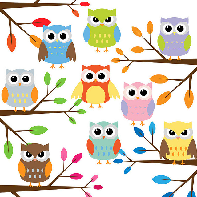 Owl with branches clip art | Clipart Panda - Free Clipart Images