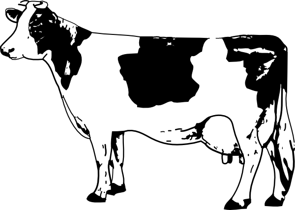 Cow clip art Free Vector / 4Vector