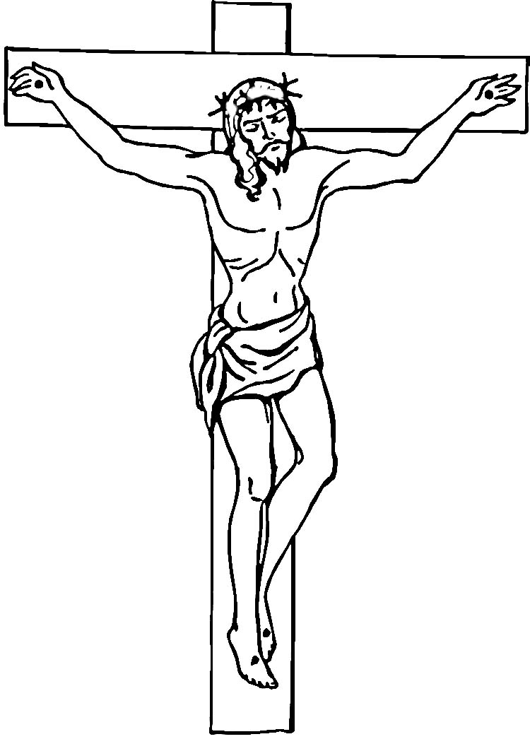 jesus cross coloring pages - photo#6