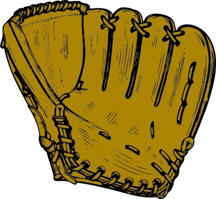 Baseball Glove clip art - Download free Other vectors