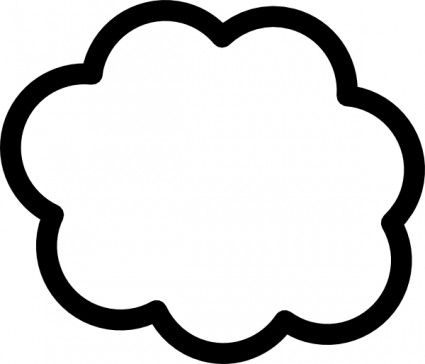 Cloud outline Free vector for free download (about 16 files).