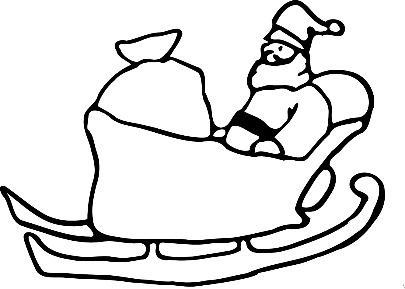 coloring pages sleigh - photo#24