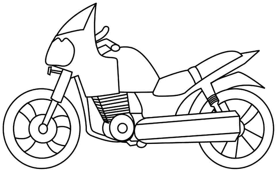 galerry cartoon motorcycle coloring pages