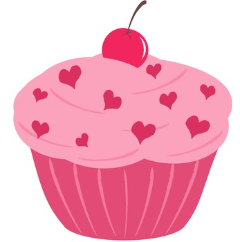 PINK CUPCAKE CLIP ART - TeachersPayTeachers.com