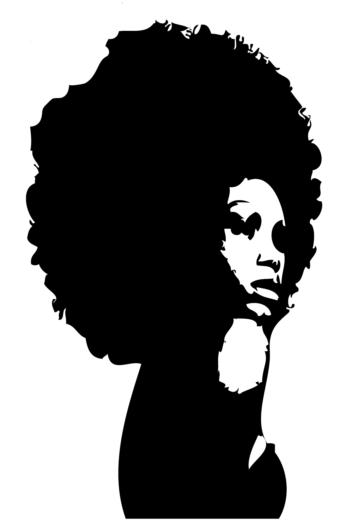The gallery for --> African American Hair Silhouette
