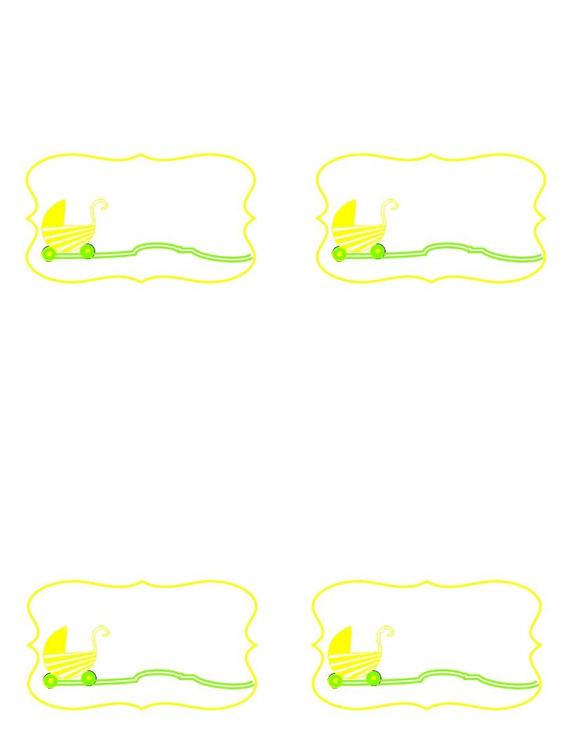 baby shower border templates