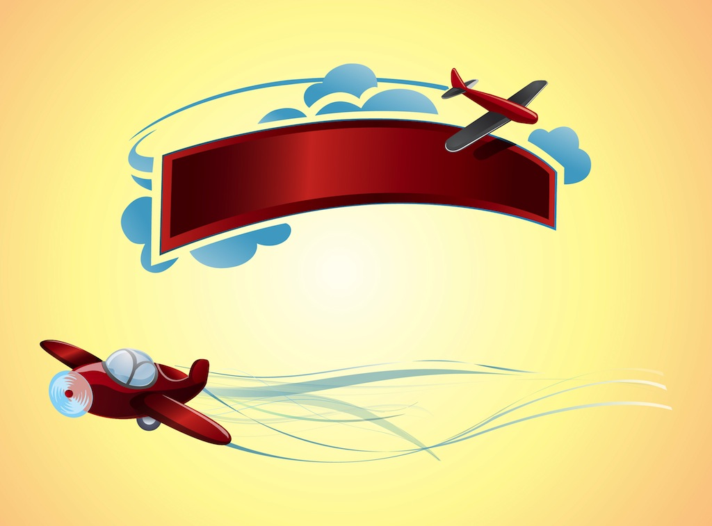 Free Airplanes Vectors - 2. Page