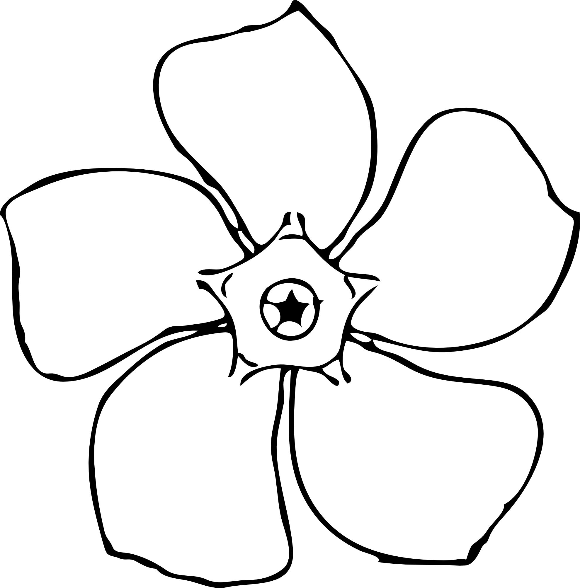 Line Art Flowers Vector : Magnolia flower clip art cliparts