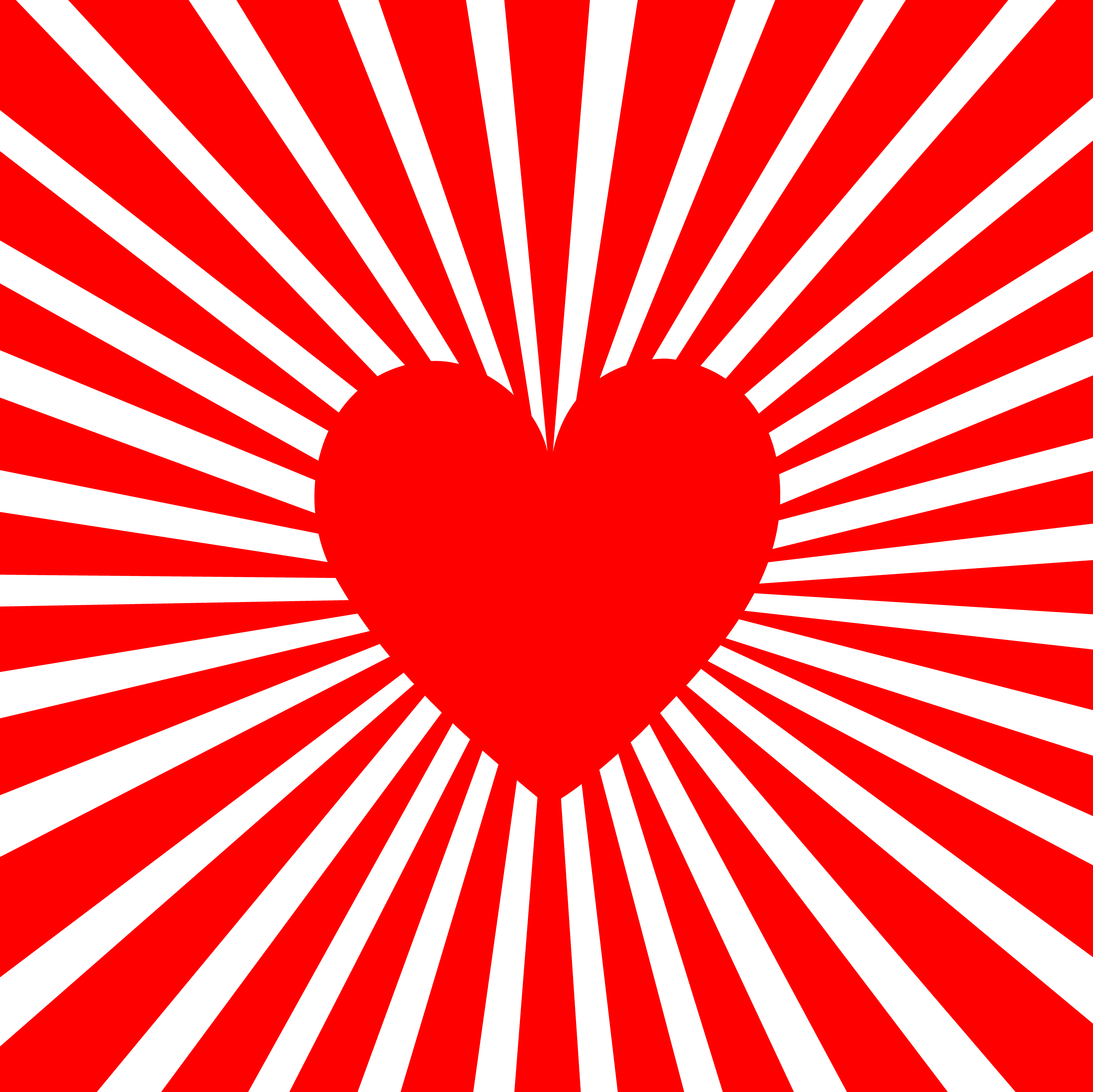 Red Heart With Line Burst - Free Clip Art