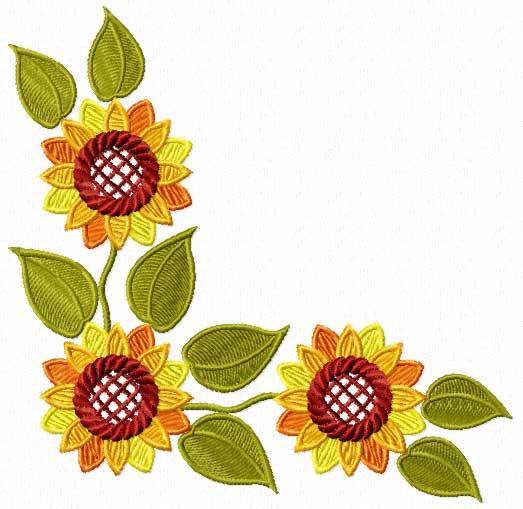 Sunflower Border Clip Art - Cliparts.co