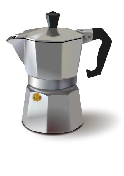 Italian Coffee Maker Small Clipart 300pixel Size, Free Design ... - Cliparts.co