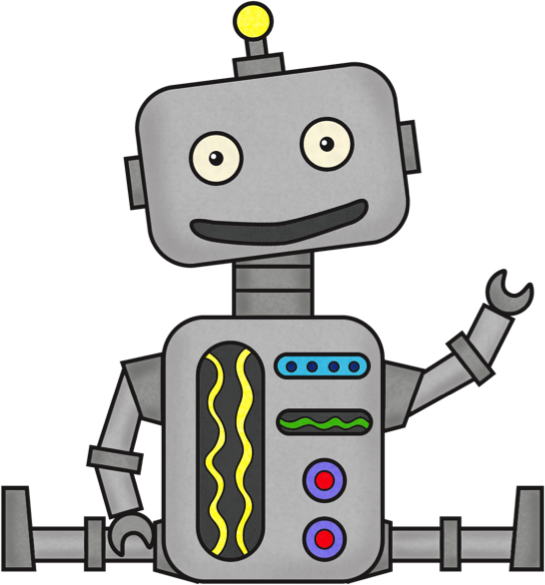 animated robot clipart - photo #8