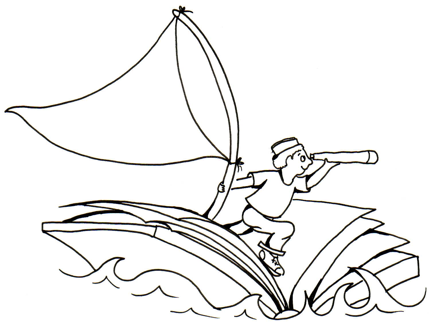 Kids Sailing Clipart Images & Pictures - Becuo