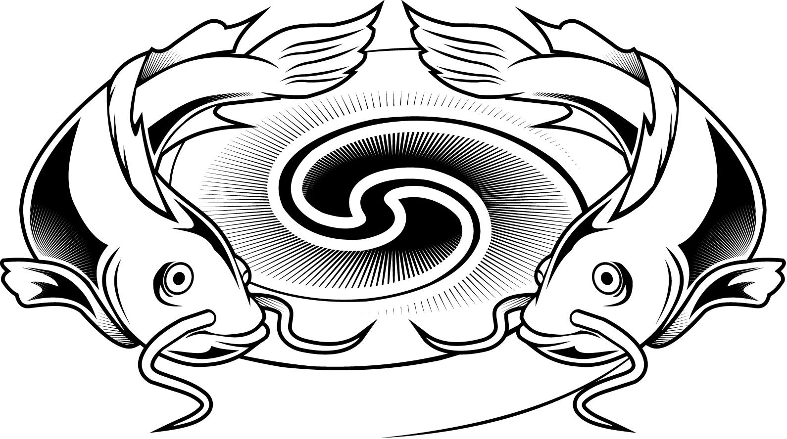 colouring pages of a catfish tattoo design for kids - Coloring ...