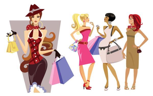 Pretty Cartoon Women
