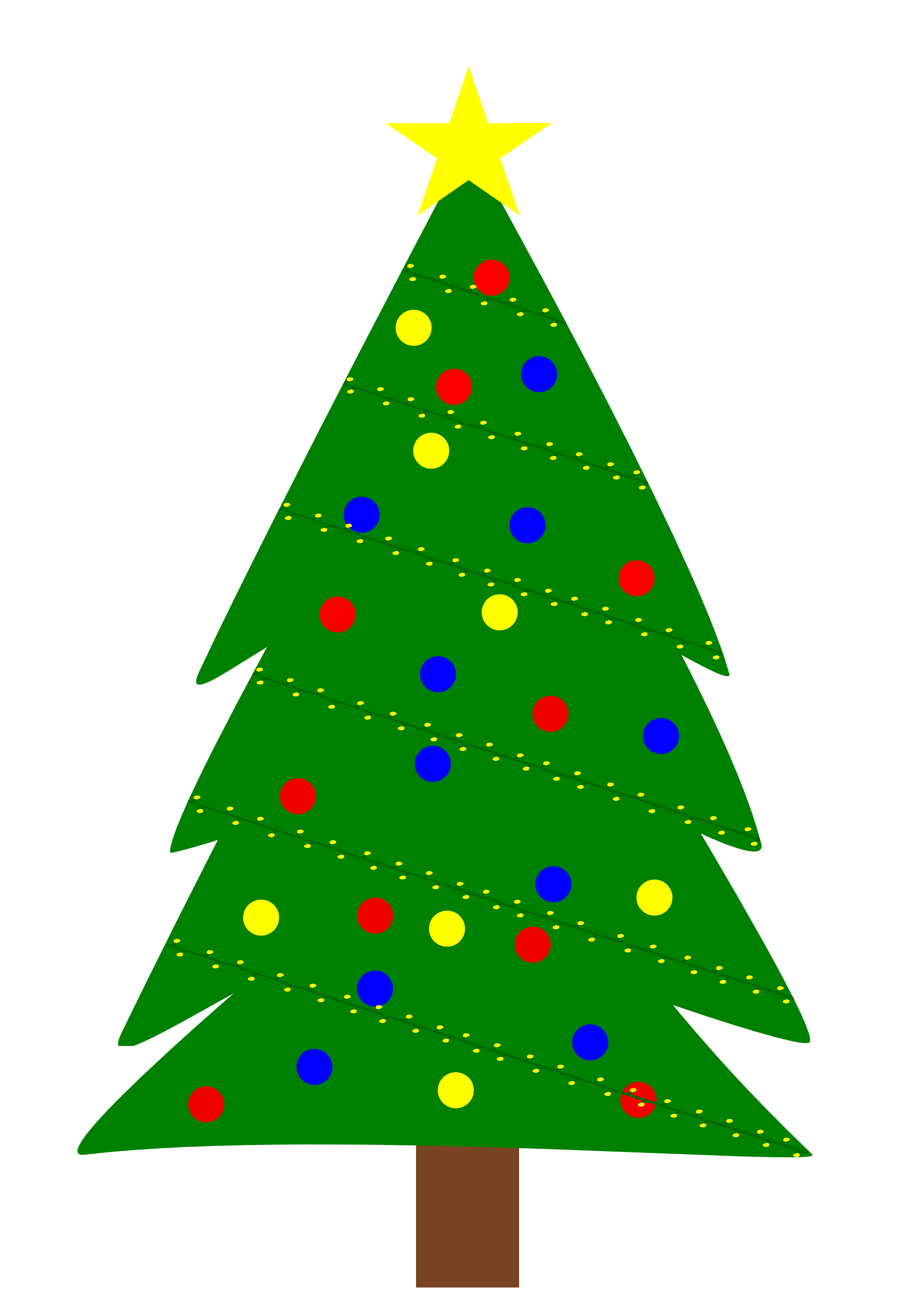 Christmas Tree Outline Clip Art Viewing Gallery For – Evergreen ...