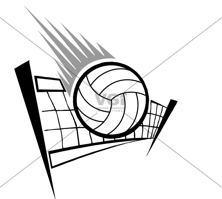 how to draw a volleyball net