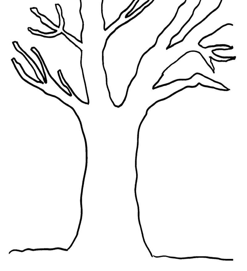 tree trunk coloring page tree trunk pictures