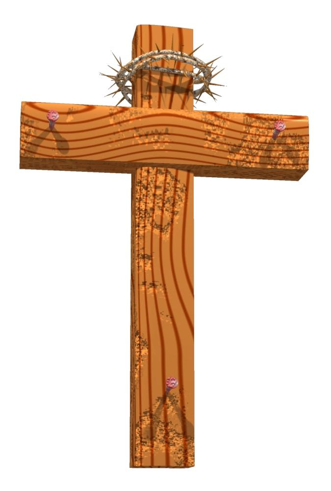"Rugged Wood Cross ""19"" Trendy Bible Educational Clip Art ..."