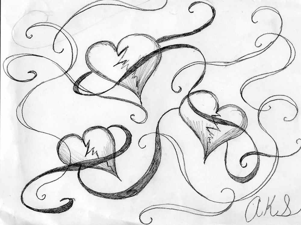 Cool Drawing Of Hearts Cool Hearts To Draw Cool Heart
