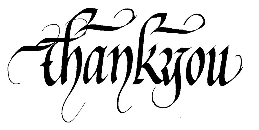 How to write thank you in calligraphy Thank you in calligraphy writing