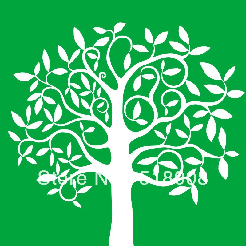 Stencil of a tree outline for Wall art templates free