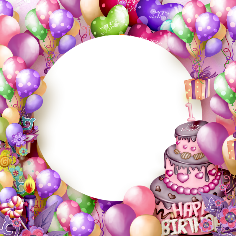 Download happy birthday frame free vector download 10572