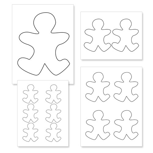 Printable Gingerbread Man Outline