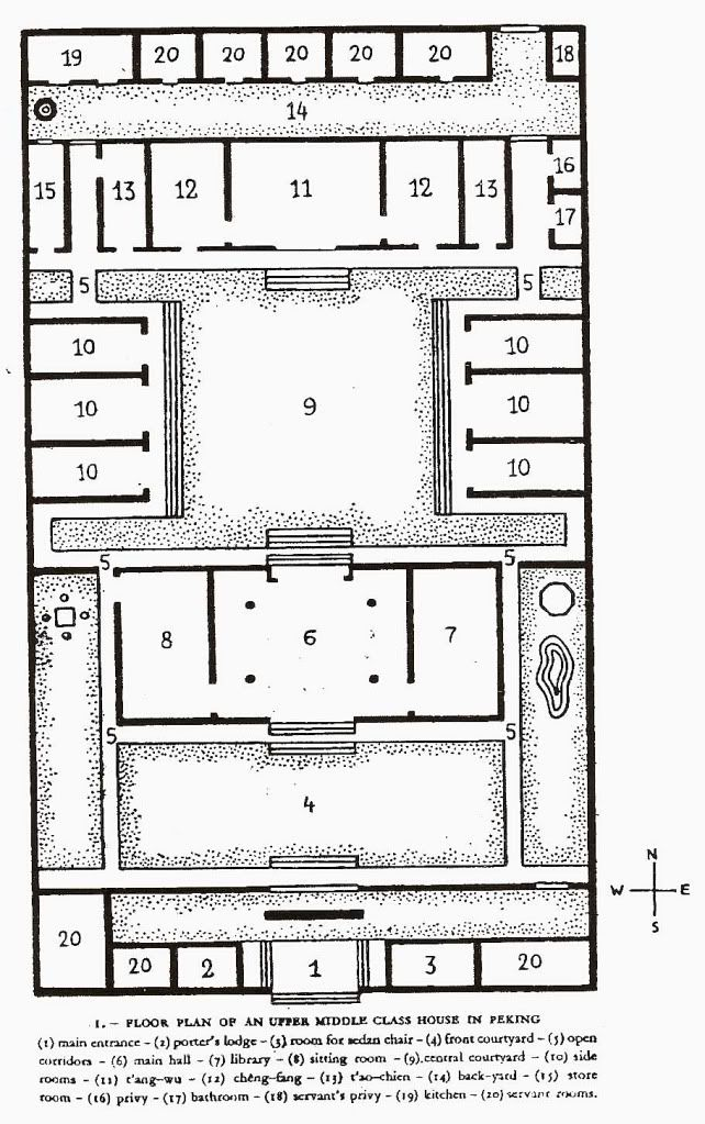 Chinese house drawing step by step for Chinese house plans