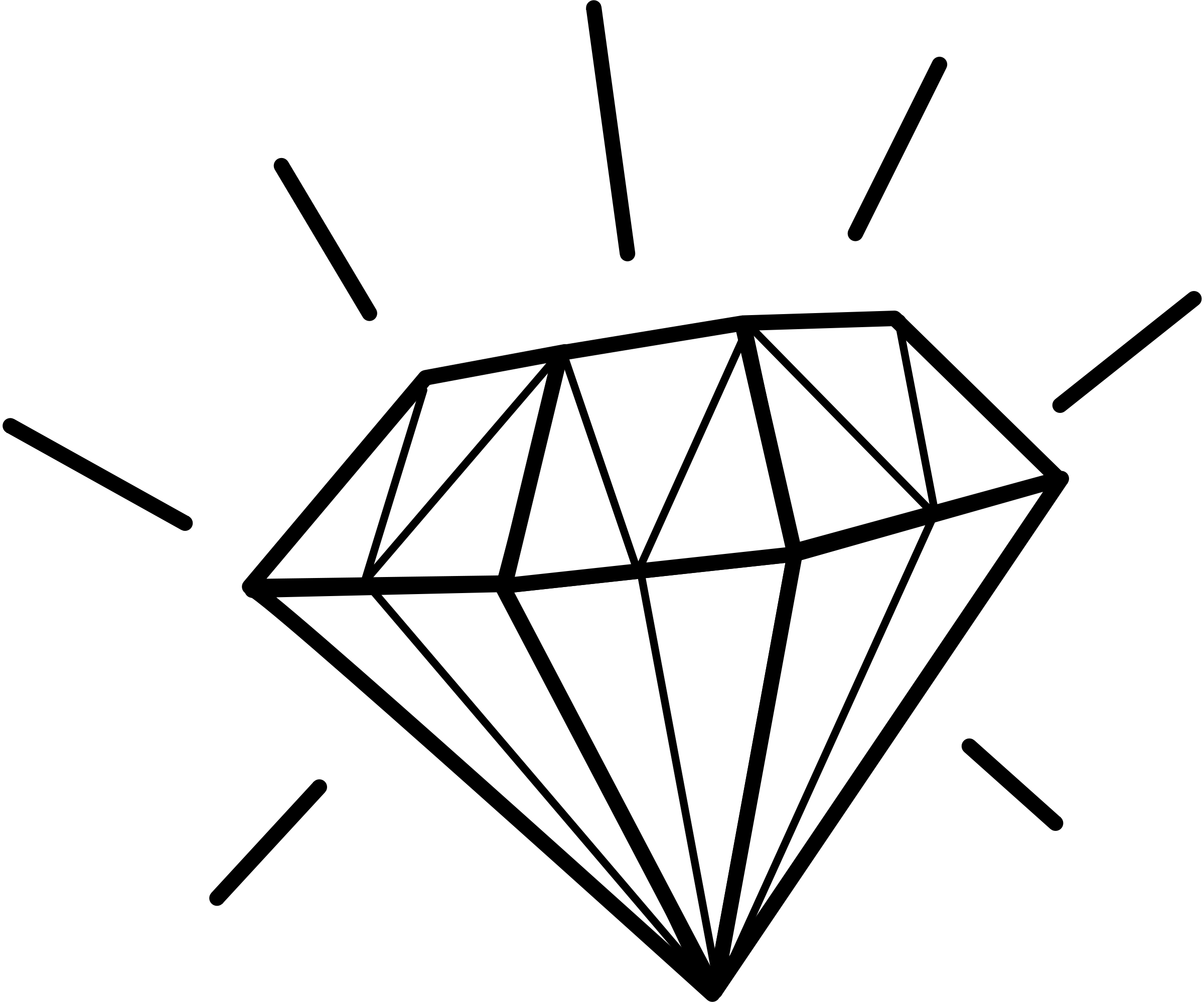Line Drawing Diamond : Diamond clip art cliparts