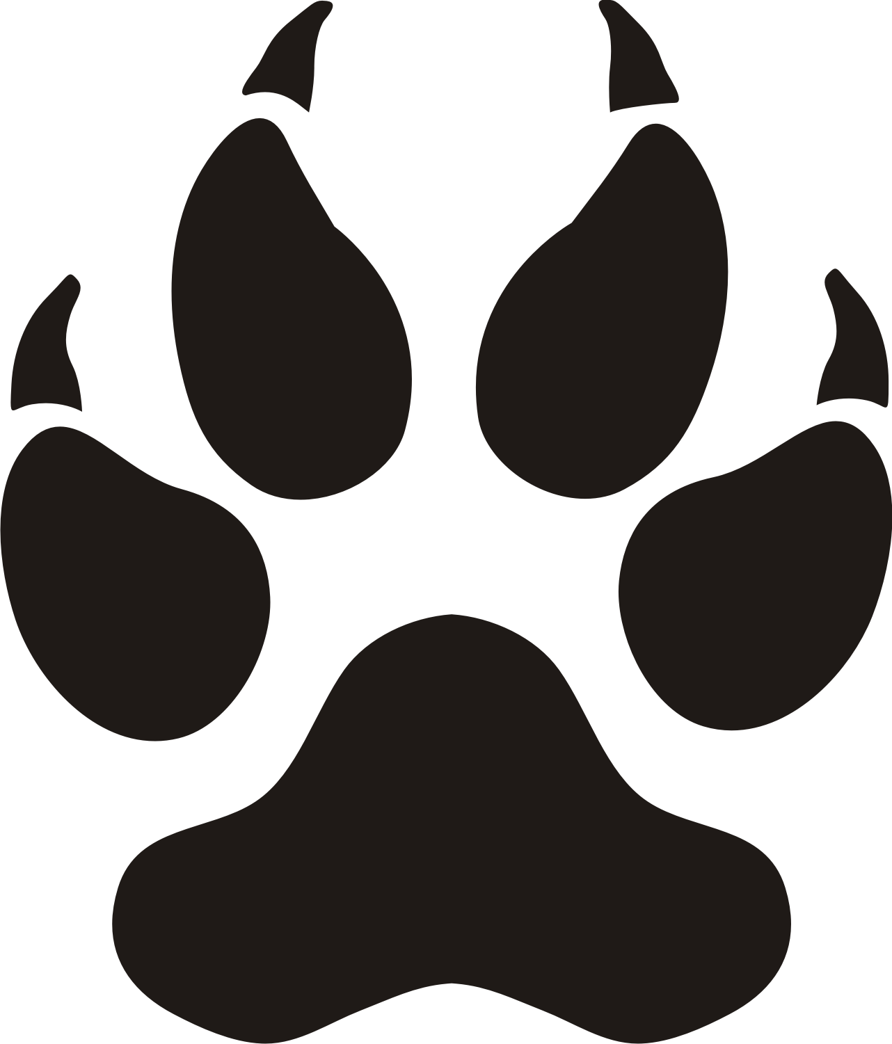 Paw Silhouette Vector - ClipArt Best