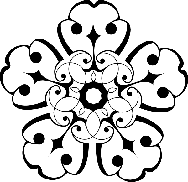 Clipart Flower Black And White Border | Clipart Panda - Free ...