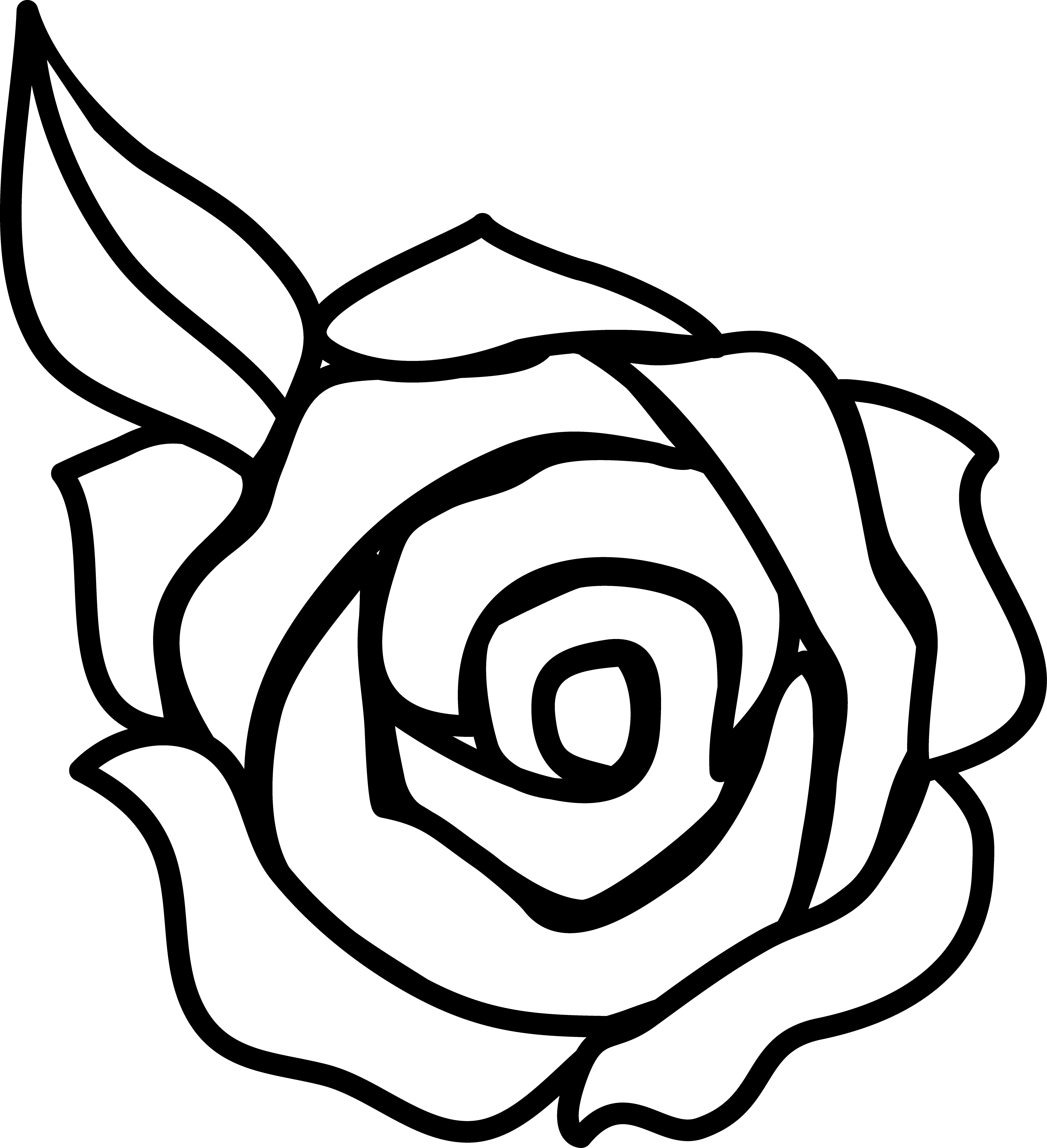 clipart roses black and white - photo #42