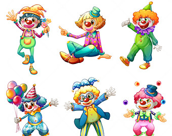 Popular items for clowns clipart on Etsy